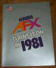 Rare AFX 1981 catalog, mint condition
