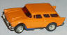 AFX '57 Chevy Nomad in light orange with blue pipes
