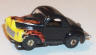 Johnny Lightning Willys Gasser in black with flames