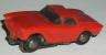 Marx HO slot car '62 Corvette hardtop in red.