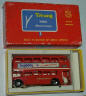 Minic red Doubledecker bus, 'Players', in box.