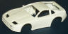 Tyco factory unfinished white Nissan 300 zx slot car body
