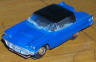Aurora slotcars HO vibrator '59 T-bird in blue with black roof