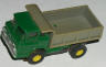 Aurora  vibrator dump truck in green with a grey bed