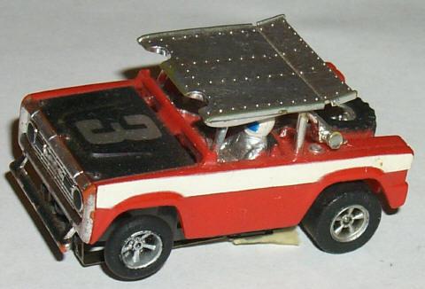 1983 Aurora AFX G SUPER MAGNATRACTION Conversion Slot Car Chassis Rare G-PLUS!
